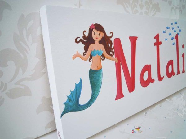 cuadros infantiles con nombre personalizado para beble