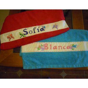 Toallas de Bebé personalizadas Pintadas a Mano