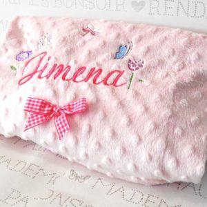 Manta de bebé personalizada – Rosa