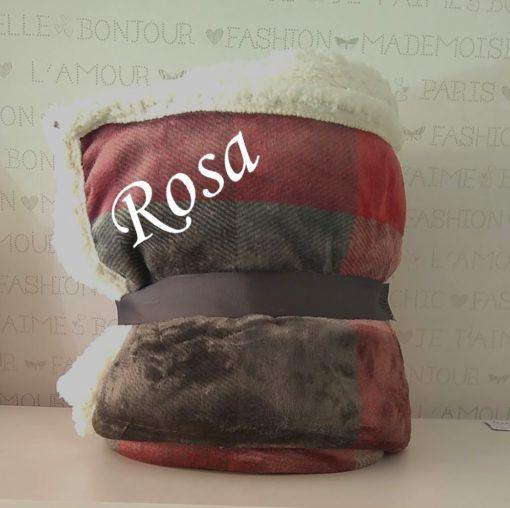 manta sofá cuadros granates 2