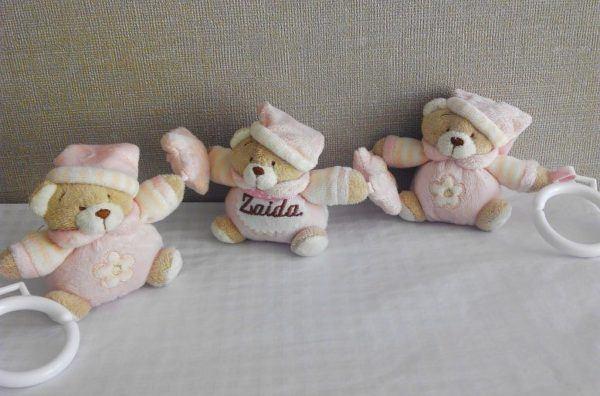 Colgantes tres osos rosa