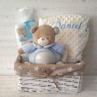 canastilla bebé original manta