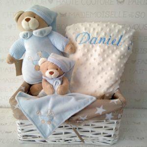 Canastilla bebé Musical, dudu y manta