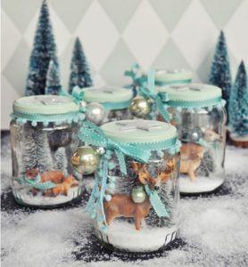 Tarro navideño decorativo con renos