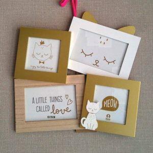 Marcos para fotos Infantiles Gato dorado
