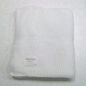Mantas de bebé Punto orgánico – Blanco