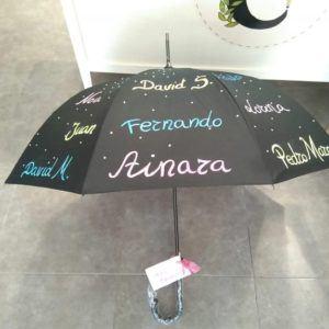 Paraguas con nombre de los alumnos – Negro