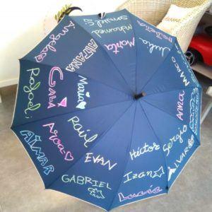 Paraguas con nombre y letra de los alumnos – Marino