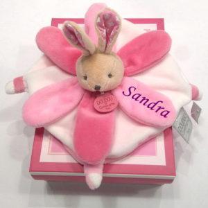 Dou dou flor Conejo Rosa