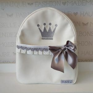 Mochila de polipiel bebé Corona personalizada
