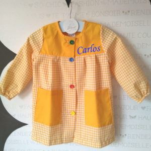 Babi escolar personalizado Amarillo