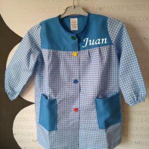 Babi escolar personalizado Azul