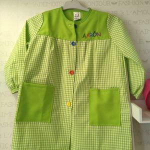 Babi escolar personalizado Verde