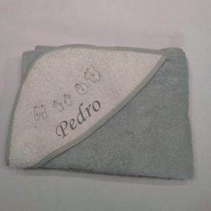Capa de baño Gris y Blanco 100×100