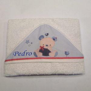 Capa de baño Oso Friends con el nombre bordado 100×100