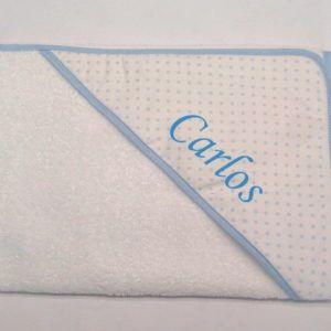 Capa de baño Puntos Azul 80×80