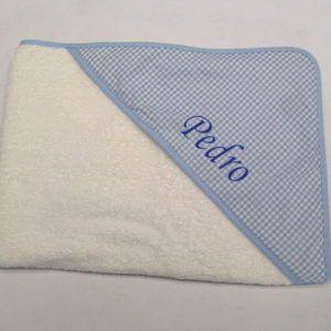 Capa de baño Vichy Azul 80×80