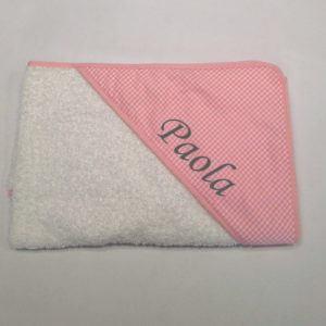 Capa de baño Vichy Rosa 80×80