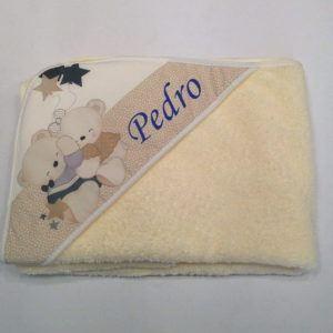 Capa de baño Osos Amorosos Crema 100×100 cm
