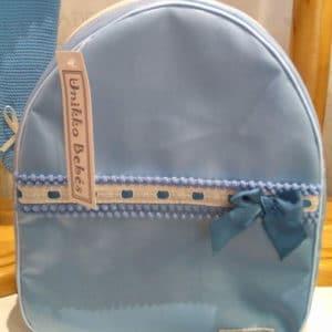 Mochila de tela Plástificada  Edén azul