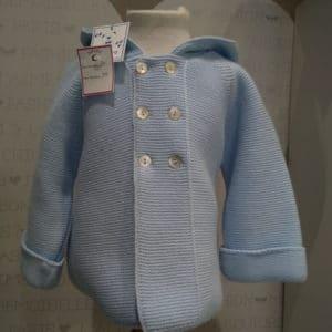 Abrigo de punto para bebés Azul Capucha 8 meses