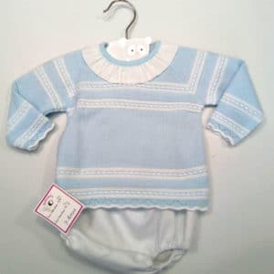Trajecito de punto para bebés Azul con ranita 3 meses