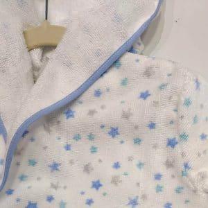 Albornoz para bebés estrellas azules