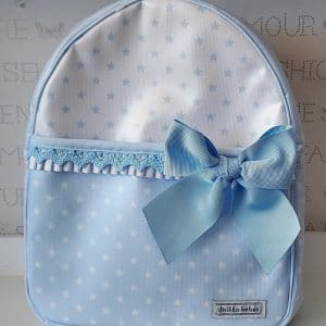 Mochila de tela Plastificada Azul lucero