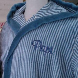 Albornoz modelo Parker azul
