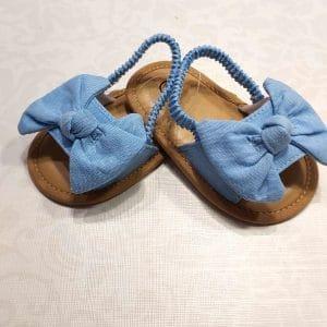 Zapatos sandalia azul claro
