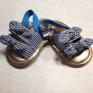 Zapatillas chancla rayas