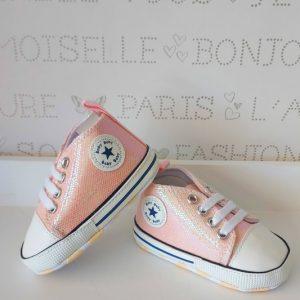 Zapatillas rosas brillantes