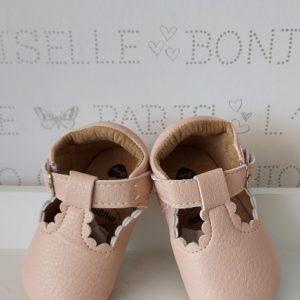 Zapatos sandalia color rosa nude