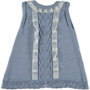 Trajecito vestido azul sombra 1 mes